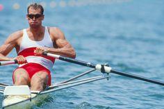 Rowing, Men's single sculls, 1996 Olympics, Gainesville, Georgia, USA, Rowing Canada, Canadian Men's single, Derek Porter, Silver medal, . http://www.discoverlakelanier.com