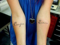 A pretty carpe diem tattoo - I like this idea too! #TattooModels #tattoo