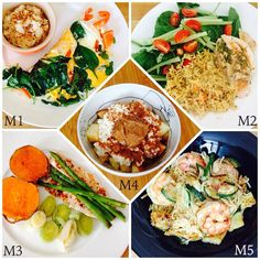 WIAT M1: feta omelette & oats topped with almonds & bee pollen. M2: rosemary chicken, rice & salad. M3: tilapia, sweet potato, leek & asparagus. M4: Apple, cottage cheese & almond butter sprinkled with cinnamon. M5: ginger prawns, courgette & pumpkin rice noodles.