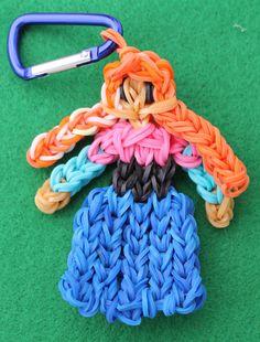 Rainbow Loom Anna from Disney Frozen etsy