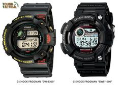 First Generation of Frogman DW-6300 versusFifth Generation Frogman GWF-1000