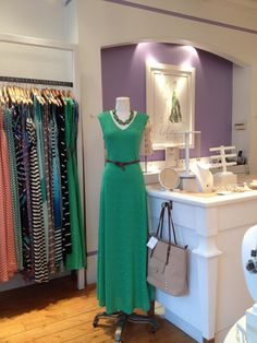 Boutique Beat --- LILAC BIJOUX!--- love the accented wall behind he register.