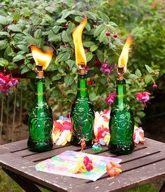 DIY: Lucky Buddha Tiki Torches | http://adventures-in-making.com/diy-lucky-buddha-tiki-torches/ #summer #decor #tiki