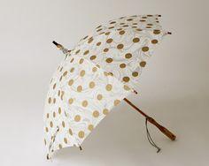 日傘 墨流し×水玉