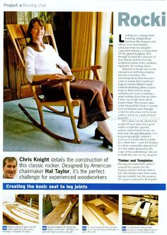 #478 Classic Rocking Chair Plans - Furniture Plans
