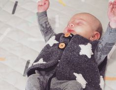 Teeny tiny vest I shared the other day was for my sweet nephew! So adorable on. He'll be warm and snuggly all winter long.