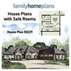 Are you planning to build in an area prone to violent storms like hurricanes and tornadoes? Money can be saved by adding a safe room during the initial construction vs. purchasing a prefab unit. Due to the recent outbreak of tornadoes in the Midwest, we have put together a collection of home plans drawn with FEMA certified residential safe rooms. Read more here: http://blog.familyhomeplans.com/2014/05/house-plans-with-safe-rooms/