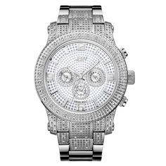 JBW Men's J6336E Lynx .80 ctw Stainless Steel Diamond Watch