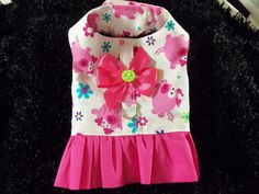 Dog Harness Cat Harness Ruffled Pink Pig  Harness Vest for Girl Dog