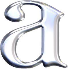 Alfabeto plateado con brillantes.