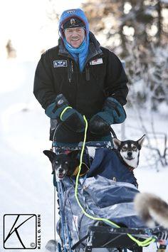 Sometimes it's nice to be ON the sled ;) Musher - Lars Monsen, famous Norwegian explorer.