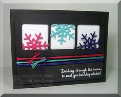 Lil Inker Designs Stitched Snowflakes and Winter Greetings stamp set