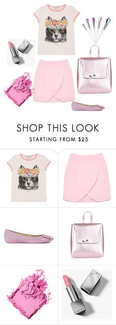 """""""Cat outfit"""" by stottsfamily ❤ liked on Polyvore featuring Gucci, Carven, Roger Vivier, New Look, Bobbi Brown Cosmetics and Burberry"""