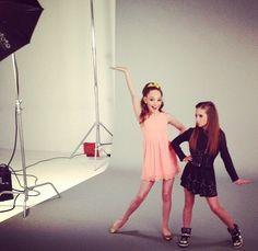 Maddie and Mackenzie! Looks like same place as the dm cast photo shoot!