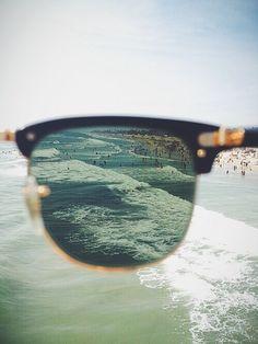 Imagen de beach, summer, and sunglasses