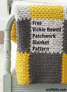 Easy Patchwork Blanket — craftbits.com #crochet