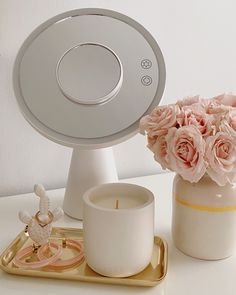 Never miss a beat with our Light Up Beauty Mirror With Bluetooth® speaker. This mirror features plenty of lights to illuminate your features, all while playing your favorite music to kick off your day to a killer sound… Vanity Decor, Vanity Ideas, Bedroom Inspo, Bedroom Ideas, Animal Crossing 3ds, Magnifying Mirror, Teen Room Decor, Room Stuff, Big Girl Rooms