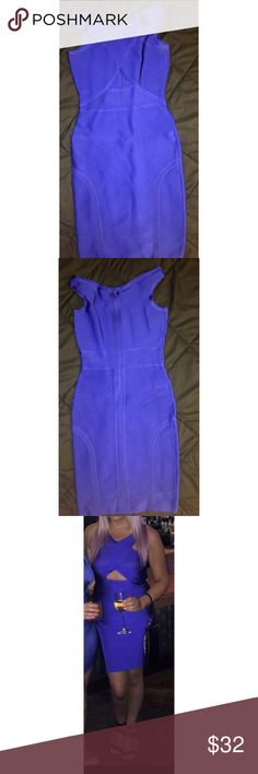 Bandage Dress Royal Blue  Has cut out Thick Material  Worn once Dresses