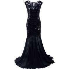 Vijiv 1920s Long Prom Dresses Sequins Beaded Art Deco Evening Party V... ($45) ❤ liked on Polyvore featuring dresses, white party dresses, beaded prom dresses, white sequin dress, sequin cocktail dresses and white dress