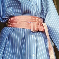 Off-white Belt fashion and off white Off White Fashion, Trendy Fashion, Fashion Looks, Fashion Outfits, Womens Fashion, Fashion Trends, Fashion Ideas, Pink Fashion, Fashion Clothes