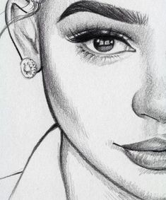 pencil art, sketches of girls faces, girl drawing sketches, girly drawings Pencil Art Drawings, Art Drawings Sketches, Drawing Faces, Half Face Drawing, Girly Drawings, Drawing Women Face, Drawings Of Girls Faces, Art Drawings Easy, Simple Face Drawing