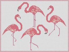 Pink Flamingos cross stitch pattern: flamingo by MKDesignArt