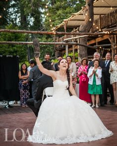 """Caitlin and Tim having some fun, playing, """"The Shoe Game"""" at Hidden Creek  I Pine Rose Weddings"""