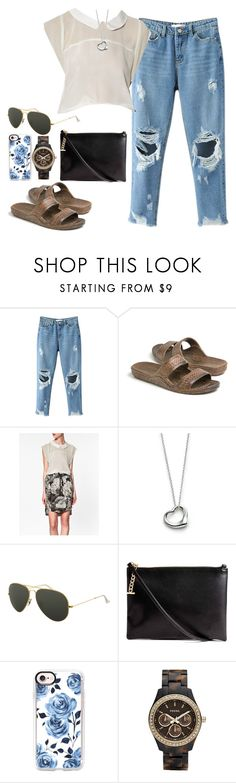 """""""Untitled #120"""" by findthefinerthings ❤ liked on Polyvore featuring Zara, Elsa Peretti, Ray-Ban, Casetify and FOSSIL"""