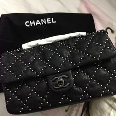 Chanel Studded Classic Flap Bag
