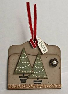 A stepped up Christmas tag (SUO) by ReginaBD - Cards and Paper Crafts at Splitcoaststampers