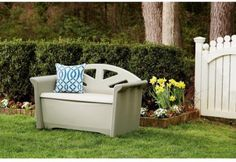 CHECK OUT! https://seethis.co/ldPV9/ #Resin #Patio #Storage #Bench #Deck #WHITE #Storage #WeatherResistant #Porch #SEAT