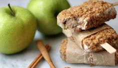 Autumn Treats - Apple Pie popsicles
