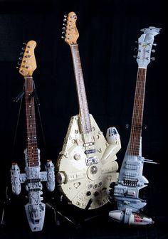 Star Wars electric guitars by Tom Bingham