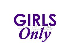 Girls Only Word Art Wall Decal - home decor decorative wall stickers in over 50 colors for all areas of the home, living room, family room, girl's room, boy's room, office, kitchen, bedroom, children's room, playroom, game room. recreation room and other areas of the home, fall and other seasonal wall decals. Wall decals can be an affordable way to decorate your home!