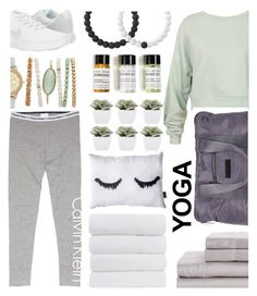 """YOGA"" by sophiaheart ❤ liked on Polyvore featuring Sans Souci, adidas, NIKE, Abigail Ahern, Bobbi Brown Cosmetics, Lokai, Calvin Klein and yoga"