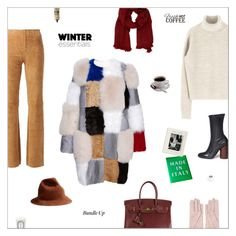 """""""winter essentials."""" by sharplilteeth ❤ liked on Polyvore featuring Dsquared2, STOULS, Hermès, Mario Portolano, Roksanda, Givenchy, Aesop, CoffeeShop, Abrams and Diptyque"""