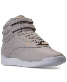 c6875b2607a05 Reebok Women s Freestyle Hi Top Muted Casual Sneakers from Finish Line    Reviews - Finish Line Athletic Sneakers - Shoes - Macy s