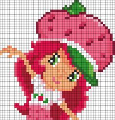 Strawberry Shortcake Perler Bead Pattern / Bead Sprite