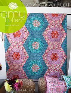 Various quilt patterns but the HEXI is what I want to make!