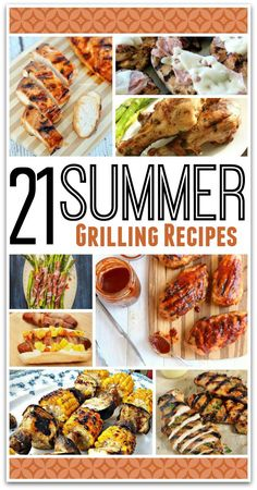 These Summer grilling recipes are perfect for family dinners or your next party!  It's great to get out of the kitchen and enjoy the summer weather. We've got chicken recipes, steak recipes, hot dogs, and more! We've even got some vegetables so you've got a well rounded meal as well as options for vegetarians. Choose your favorite recipe and be sure to come back and let me know how it turns out! Happy grilling! Summer Grilling Recipes, Barbecue Recipes, Summer Recipes, Bbq, Steak Recipes, Cooking Recipes, Chicken Meals, Grilling Chicken, Chicken Recipes