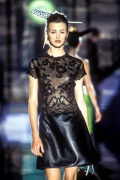 ATELIER Versace by Gianni Versace Spring Summer 1996 Paris Fashion Week - Haute Couture - trish goff