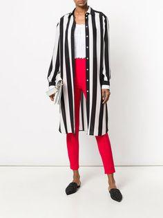 Dolce & Gabbana Striped Longline Shirt - Farfetch