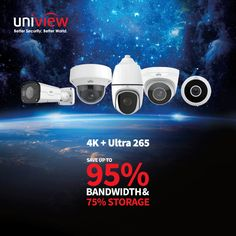 Uniview Security Camera Batter Solution + Ultra 265 Save Up to Bandwidth & Storage People Counting, Worlds Of Fun, Security Camera, Videos, Digital, Storage, Mini, Backup Camera, Purse Storage
