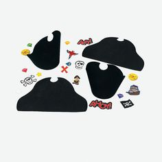 "Ahoy Matey!  Turn any craft project in a pirate's adventure with these Fabulous Foam Pirate Hats. Make and decorate 12 swashbuckling pirate hats with this high seas craft project! Each pirtate hat includes vinyl expandable coil bands and 426 self-adhesive foam shapes. 9 1/2"" x 6"" Eyepatch not included.  © OTCAge Recommendation:Ages 8 & Up: Containing many pieces of all shapes and sizes and made from a variety of different sturdy materials, some of which include sharp edges or points…"