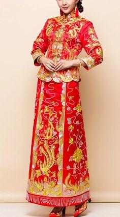 f4adac763a2 Chinese Traditional Wedding Dress -Kwa Qun