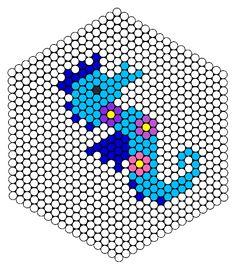 Seahorse Perler Bead Pattern | Bead Sprites | Animals Fuse Bead Patterns