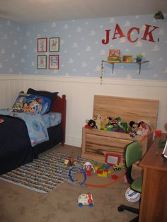 Toy Story Room:) Brody would love this!! Maybe for the playroom?