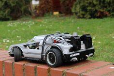 LEGO SBrick powered DeLorean Time Machine https://rebrickable.com/mocs/Andre_Bornemann/rc-de-lorean-dmc-12-time-machine