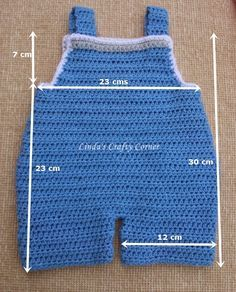 .Linda's Crafty Corner: Baby Dungaree Pattern 3 M