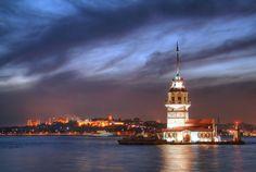 kiz kulesi gece fotograflari